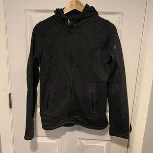 Athleta Embroidered Dark Grey Sweater